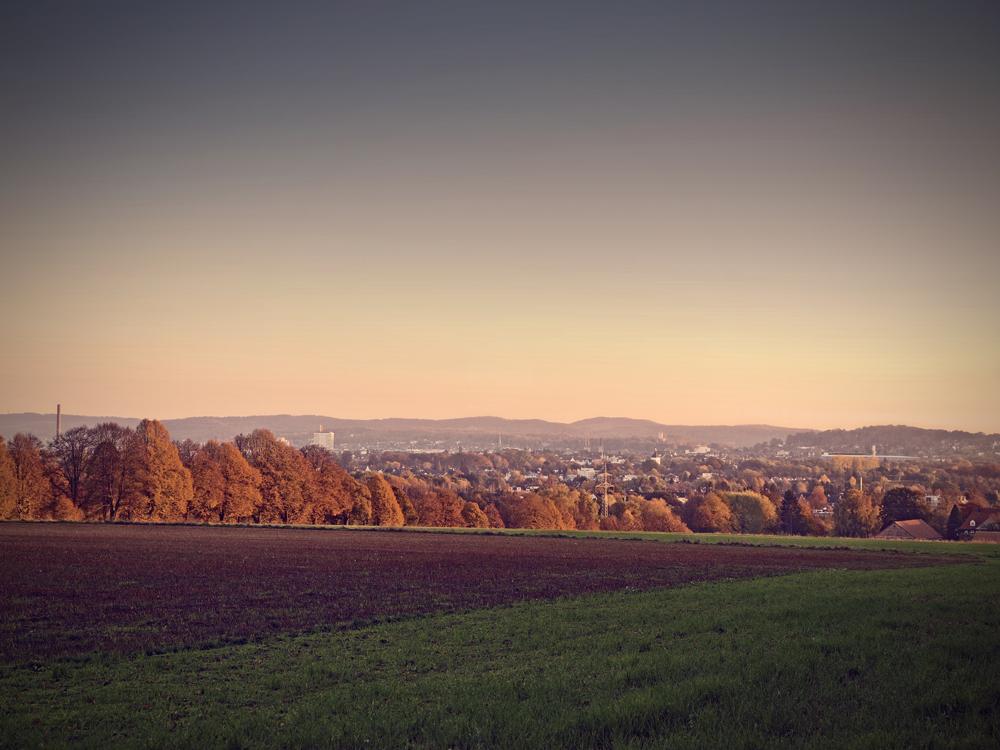 Herbst über Bielefeld
