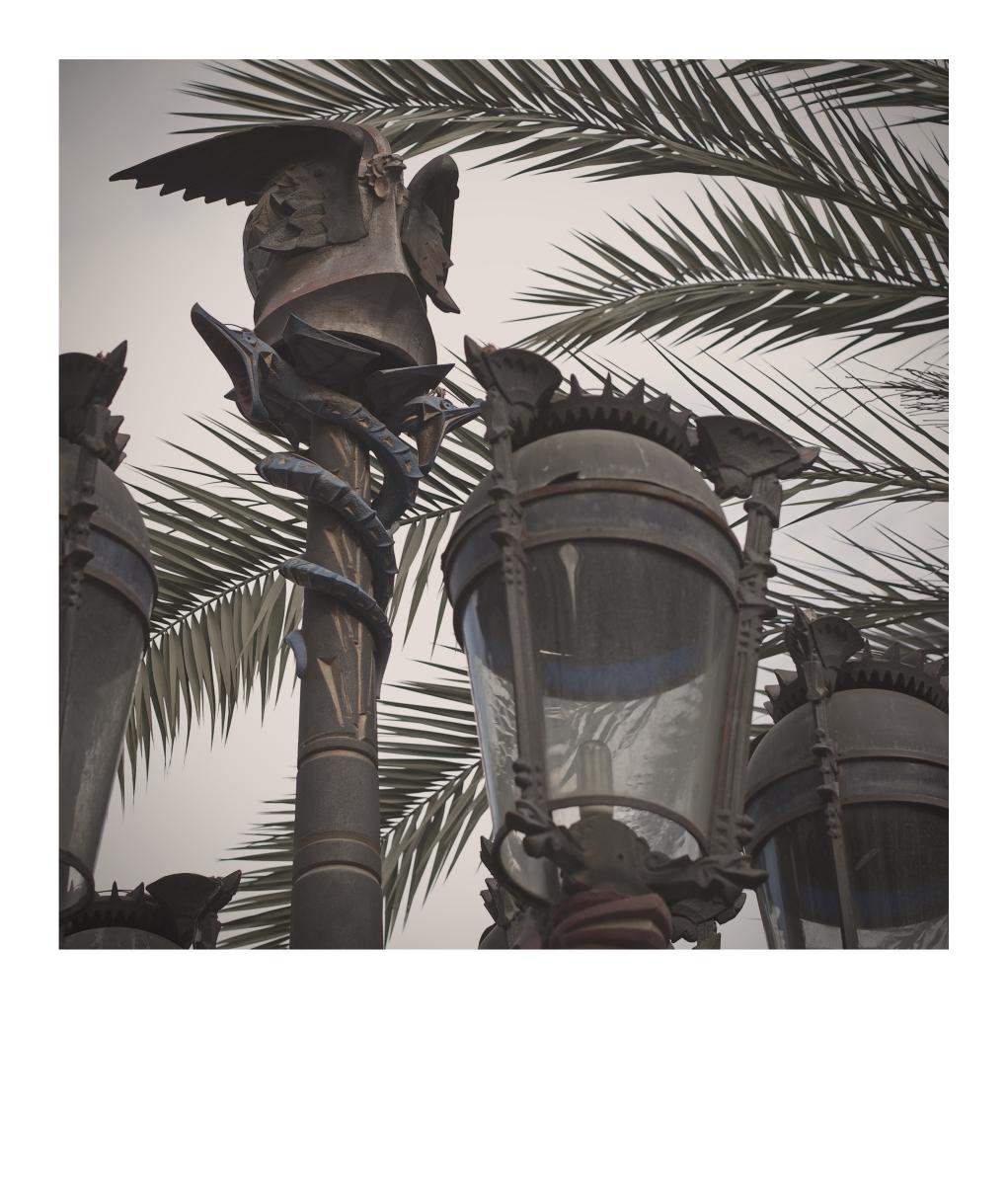 Lanterns on Plaça Reial
